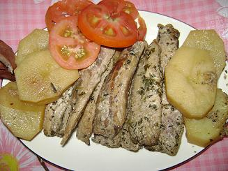 Filete de pescado grillé