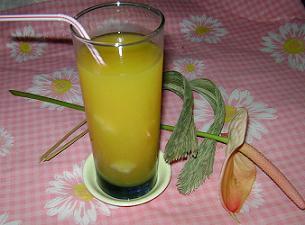Jugo de mango y piña