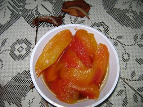 Trozos de frutabomba